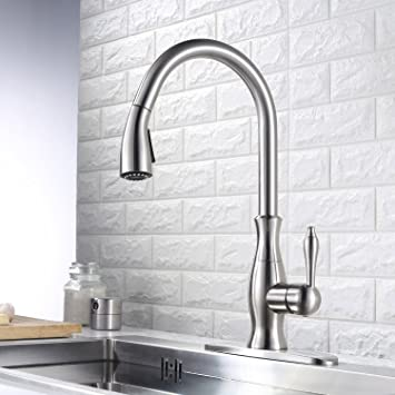 Homelody Kitchen Faucet Pull Down Sink Faucet With Sprayer Stainless