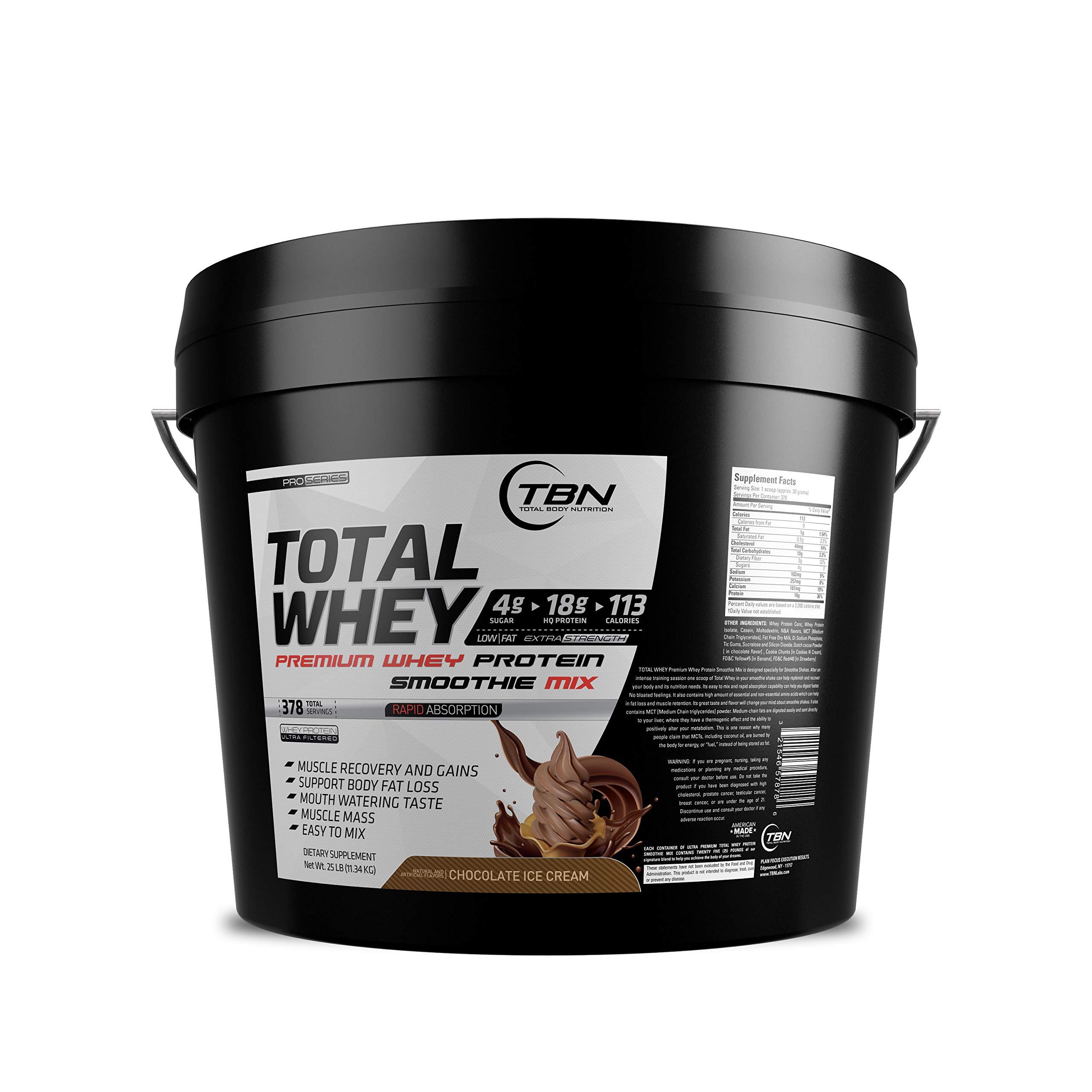 Whey Protein, Protein Shakes, Healthy Shakes, Whey Smoothie 25 Lbs (Dutch Chocolate)