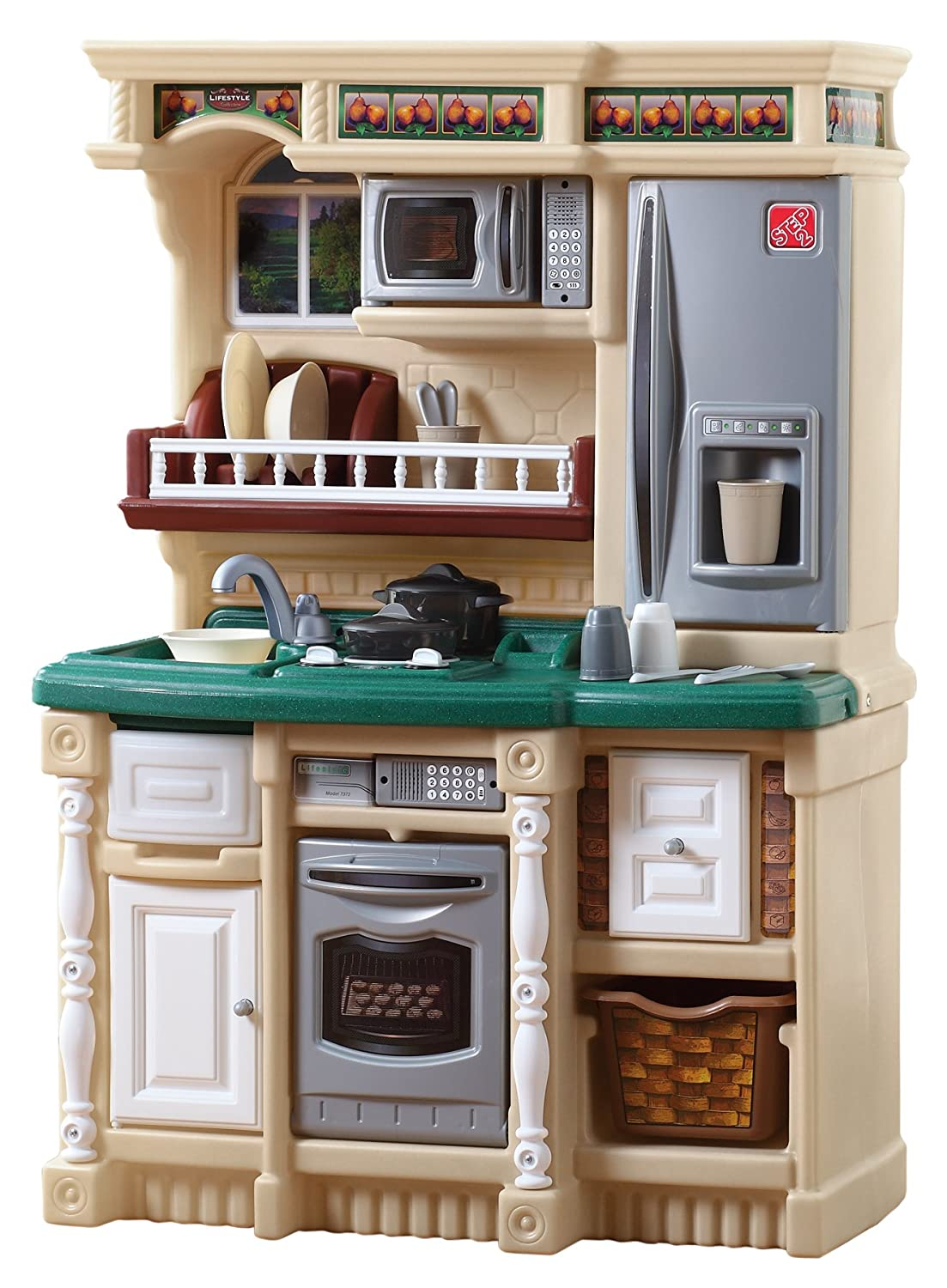 amazon com step2 lifestyle custom kitchen toys games rh amazon com  step 2 kids kitchen sets