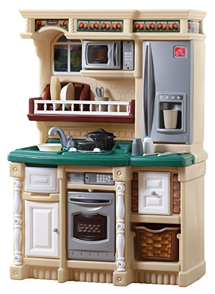 Step2 LifeStyle Custom Kitchen | Plastic Play Kitchen & Toy Accessories Set  | Green Kids Kitchen Playset