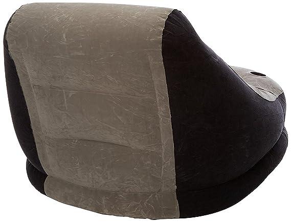 Intex 68564NP - Sillón+reposapiés hinchables 99 x 130 x 76 64 x 28 cm, gris