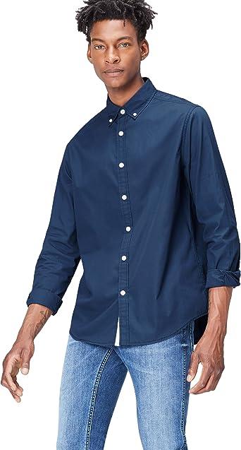 Marca Amazon - find. Camisa Casual de Algodón con Corte Estándar para Hombre: Amazon.es: Ropa y accesorios
