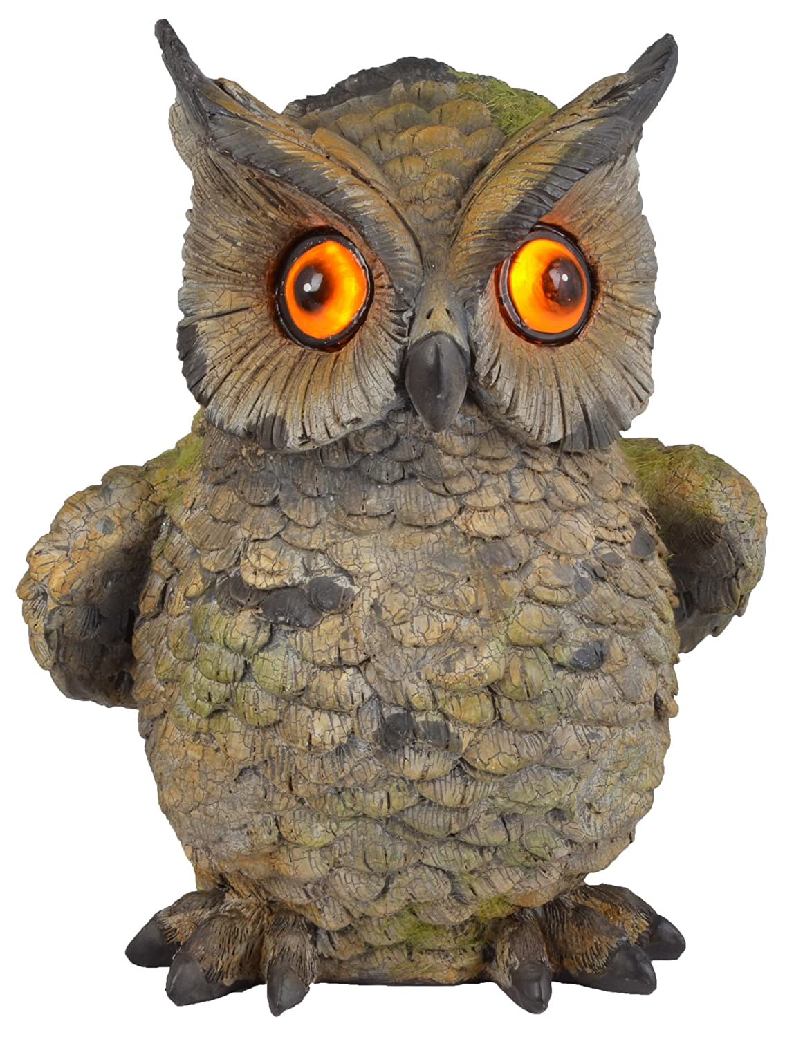 Moonrays 91257 Solar Light Hand Painted Polyresin Owl with LED Blinking Eyes [並行輸入品] B00ID8QHP8