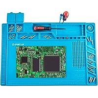 Spurtar anti-statische soldeermat station 500 ℃ hittebestendige magnetische reparatie mat 45x30 cm 7 mm multifunctionele…