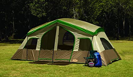Texsport Sequoia Pass Three-Room Family Cabin Tent (Tan/Green 19- & Amazon.com : Texsport Sequoia Pass Three-Room Family Cabin Tent ...