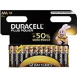 Duracell Plus Power, LR03/MN2400, Batterie Alcaline, Ministilo, AAA, confezione da 12