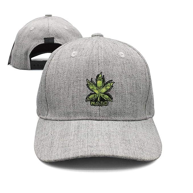 3dd6f0c9ebb0a Wasted Cannabis Leaf Killer Men s Hats Literary Trucker hat Cozy and snug  Snapback Hats for Men