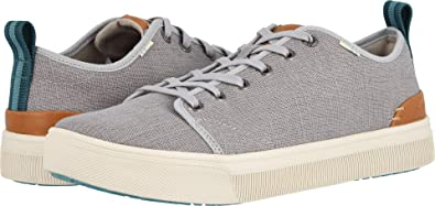 f6ef77071f6 Image Unavailable. Image not available for. Color  TOMS Men s TRVL LITE Low  Drizzle Grey Heritage Canvas 7 ...