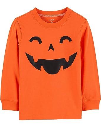 5c0cf7cd8b64 Amazon.com  Carter s Baby Boys  Long Sleeve Pumpkin Graphic Tee ...