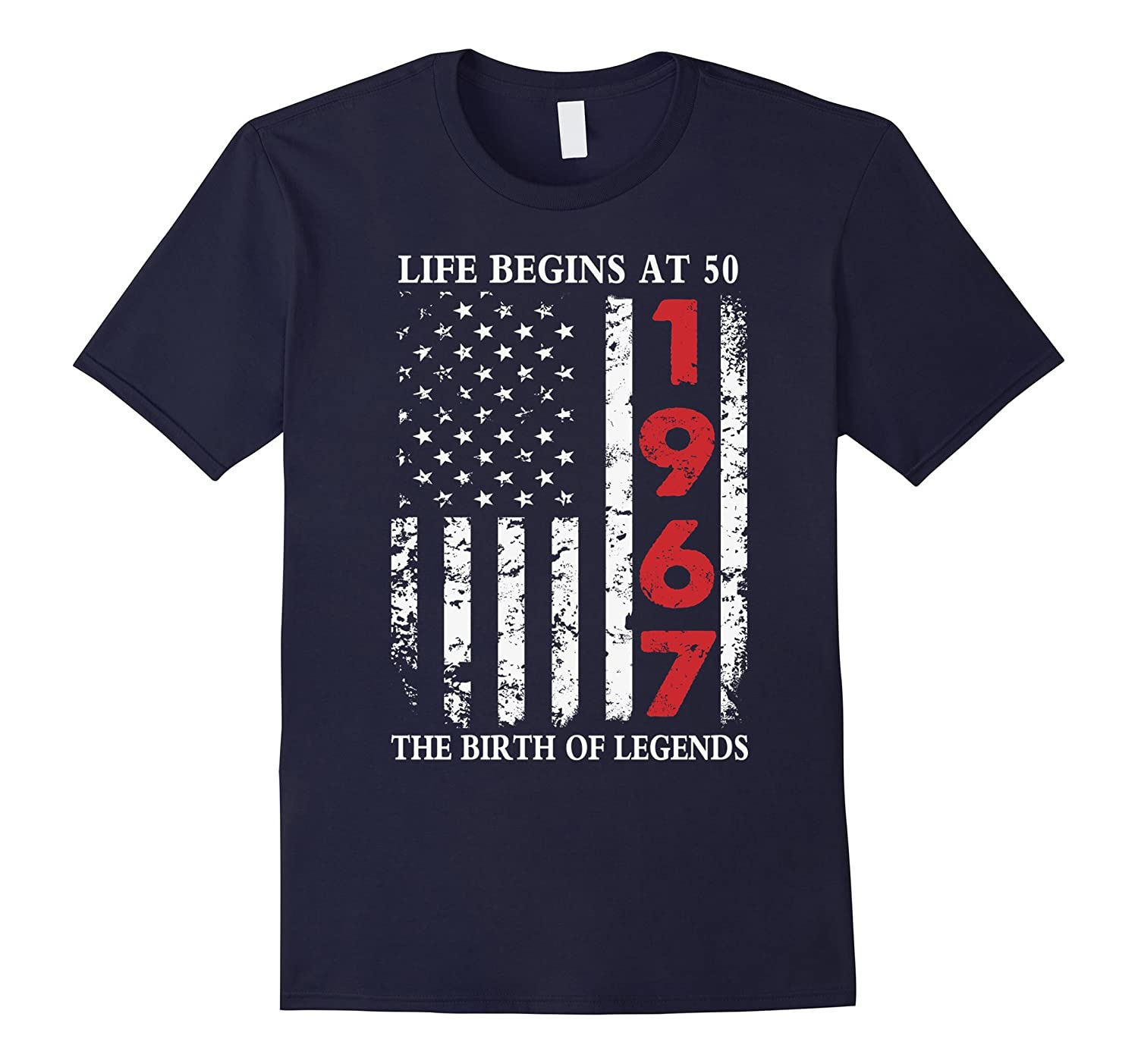 1967 The Birth Of Legends American Flag T-Shirt 50th Gift-TD