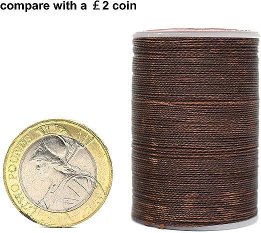 Hilo encerado redondo 0,45 mm para coser a mano, artesanía de ...