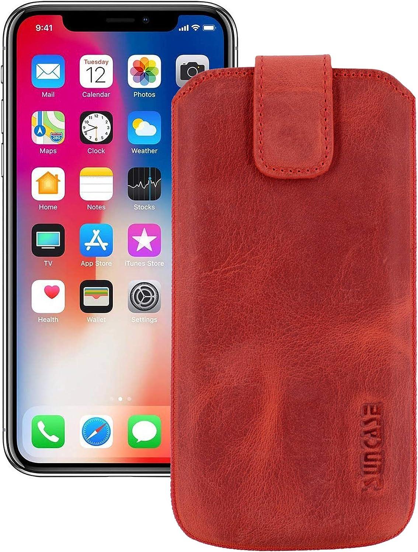 Suncase Original Funda para iPhone X con Adicional móvil/Carcasa/Bumper * con pestaña * Funda Piel Carcasa Case móvil: Amazon.es: Electrónica