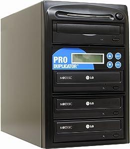 Produplicator 1 to 3 24X Burner M-Disc Support CD DVD Duplicator - Standalone Copier Duplication Tower
