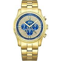 JBW Luxury Men's Vanquish 42 Diamonds Encrusted Bezel Watch