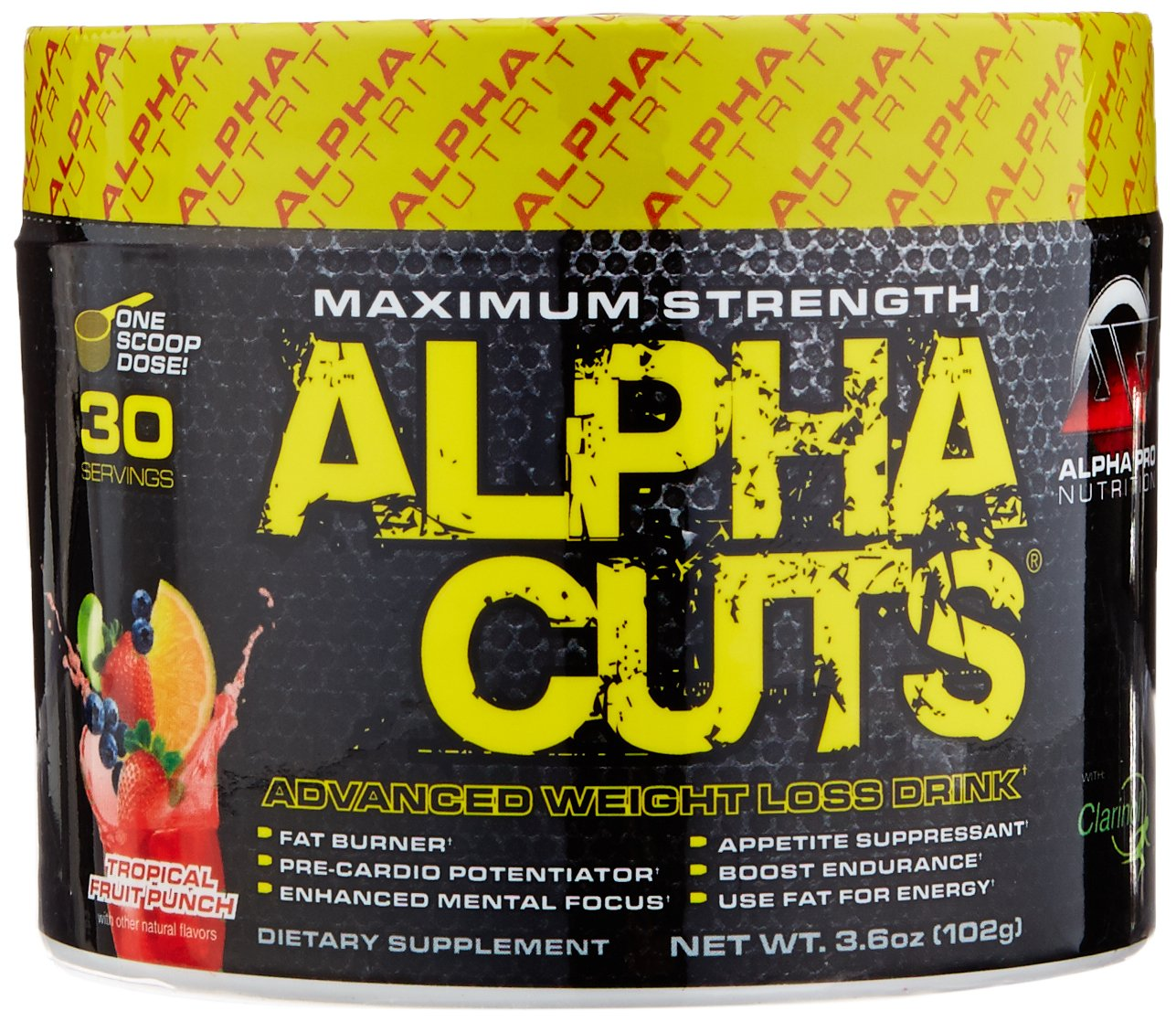 Alpha Pro Nutrition Cuts, Tropical Fruit Punch, 30 Servings