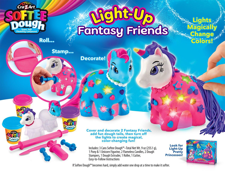 Cra-Z-Art Softee Dough Lite Up Dough Ponies Softee Dough Kit Cra Z Art 36075