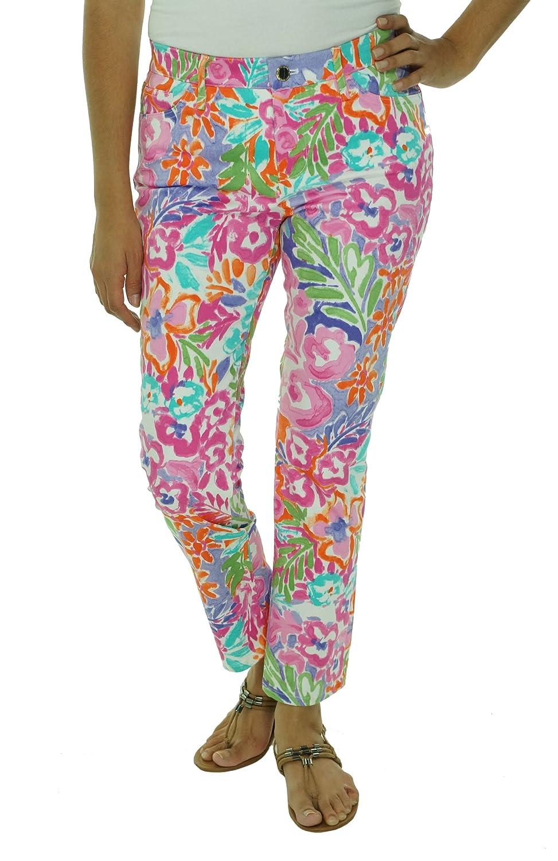 Ralph Lauren Women's Petite Cotton Elastane Floral Pants