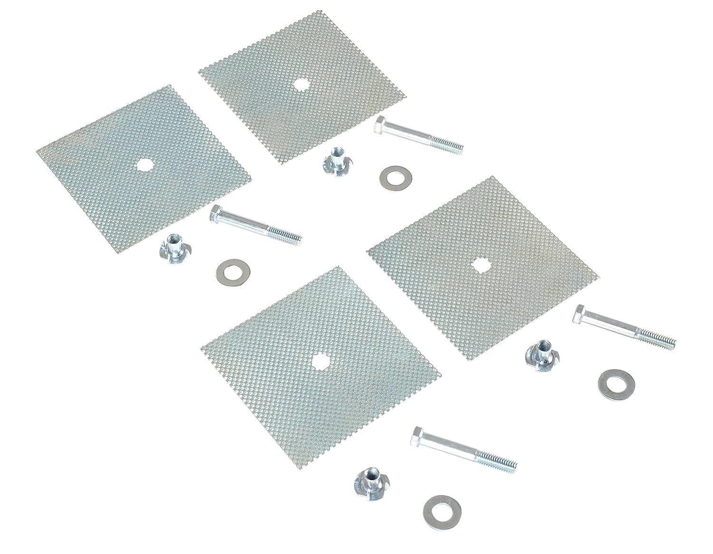 Vestil CS-AK Plastic Car Stop Asphalt Hardware Kit with 3 Mounting Holes Vestil Manufacturing Corp
