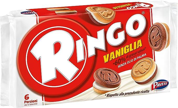 Pavesi Ringo Biscotti alla Vaniglia Famiglia, 330 gr