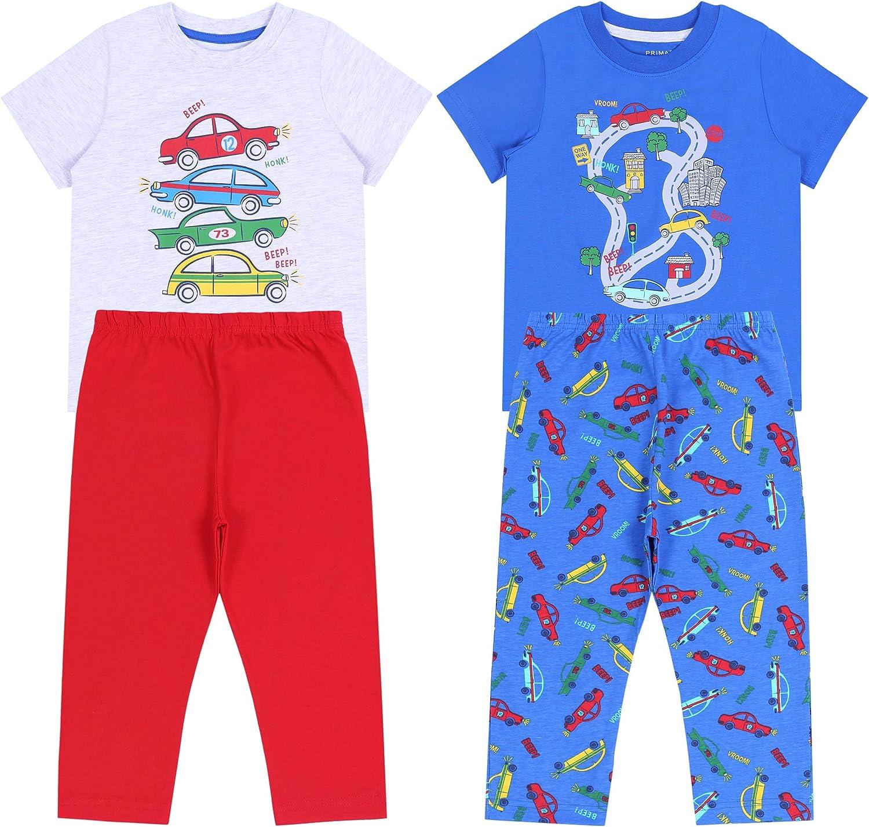 2X Pijama Azul para niños con Estampado de Coches 6-7 años ...