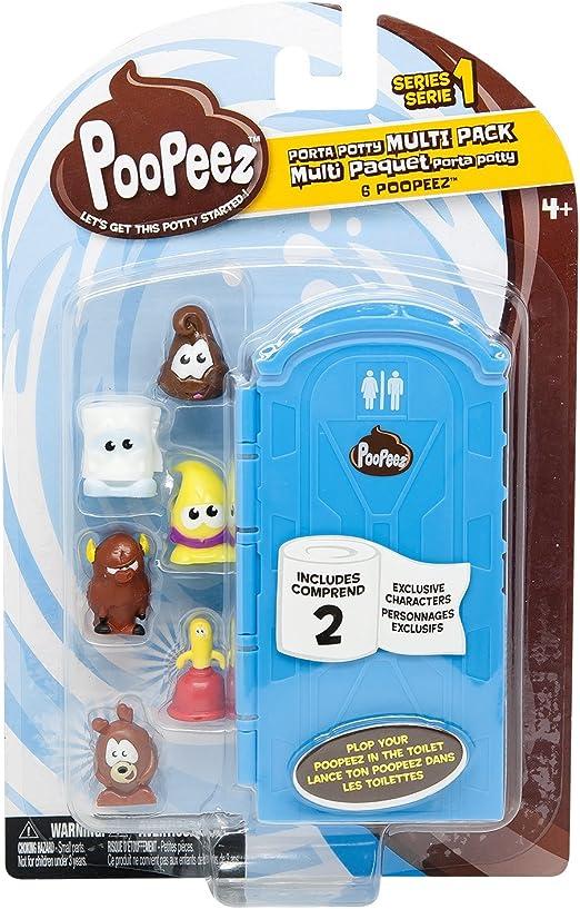 Poopeez Multi confezione con 6 FIGURE COLLEZIONE 16x25cm giocattolo da collezione casuale