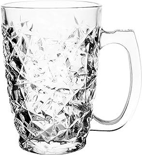 205fe770829 Buy Soogo Seatle Glass Beer Mug Set, 380 ml, 2-Pieces, Transparent ...