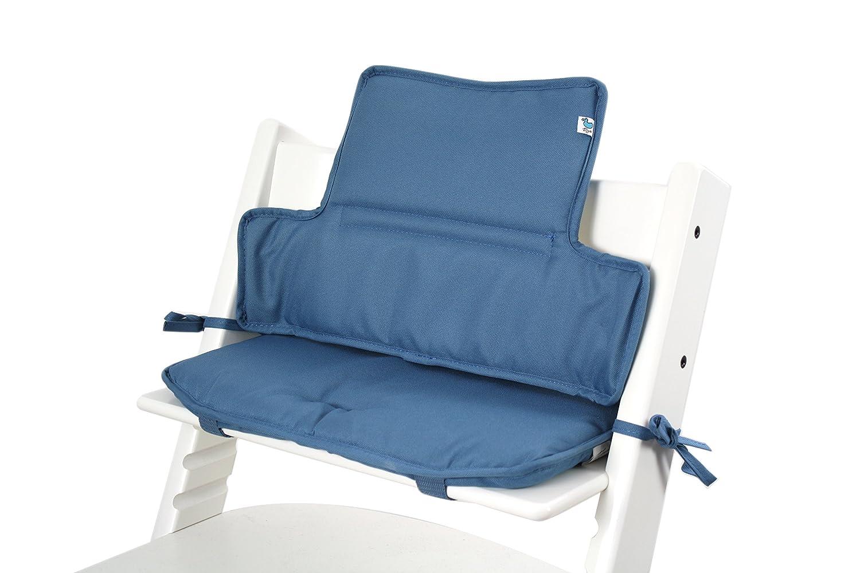 Tinydo Hochstuhl-Sitzkissen+ optimal fü r Stokke Tripp-Trapp und viele anderen Treppenhochstü hle [himmelblau] - 2teilg. Set mit Memory-Schaum-Dä mpfung - Sitzverkleinerer-Auflage fü r Babystü hle! Synergy-Brands UG