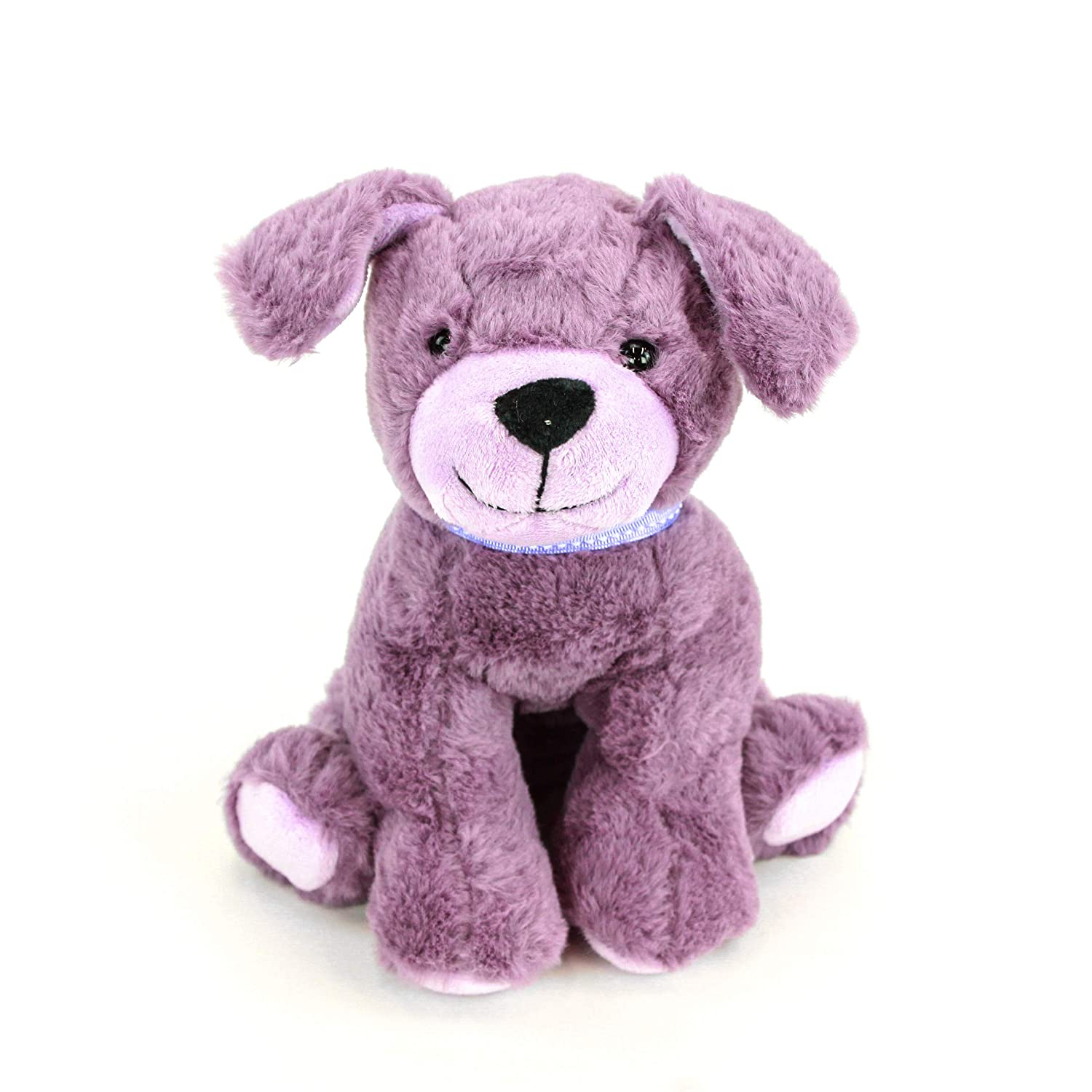 "Gitzy 8"" Purple Puppy Stuffed Dog Plush Toy Super Soft Cute Stuffed Animals  Dog for Girls Boys Toddlers Kids"