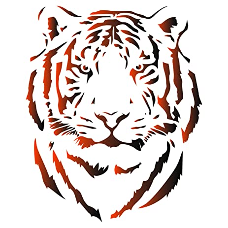 Amazon Tiger Head Stencil 65 X 8 Inch S Reusable African