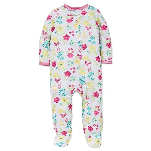 8018f9874 Amazon.com  Little Me Baby Girl Ice Cream Soft Zip Footie Pajamas ...