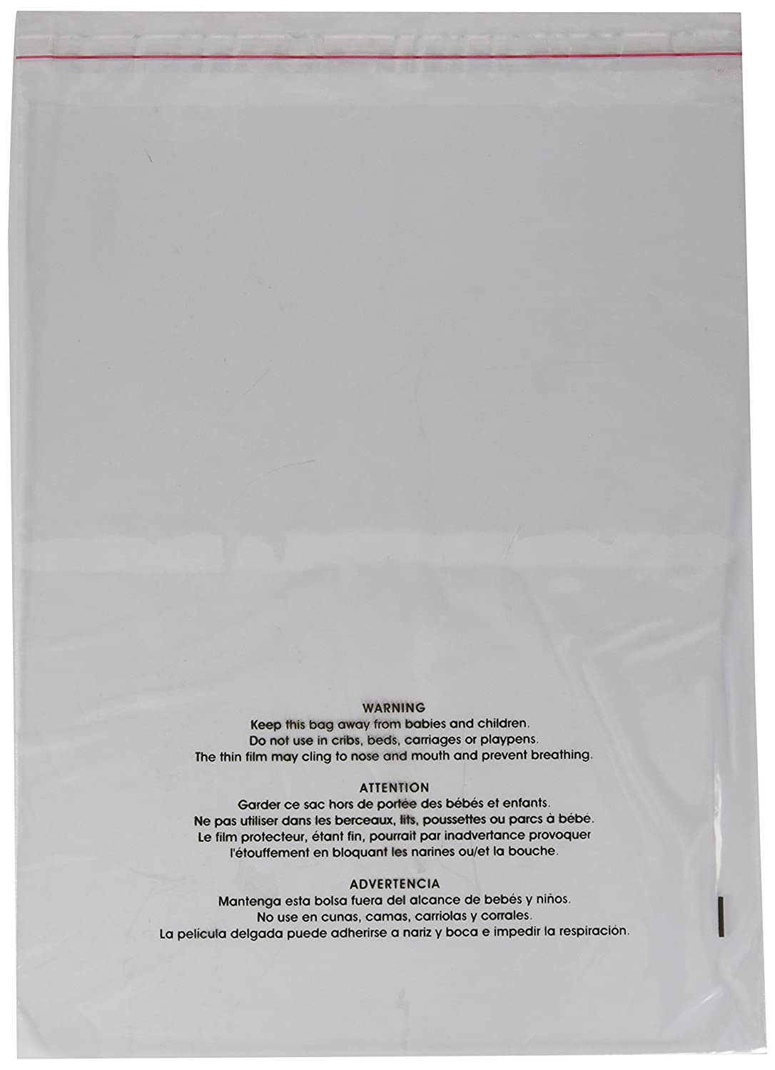 Uline Suffocation Warning Poly Bag, 1.5ml Self-sealed, 100 Count (11x14) Manhattan Comfort S-19131