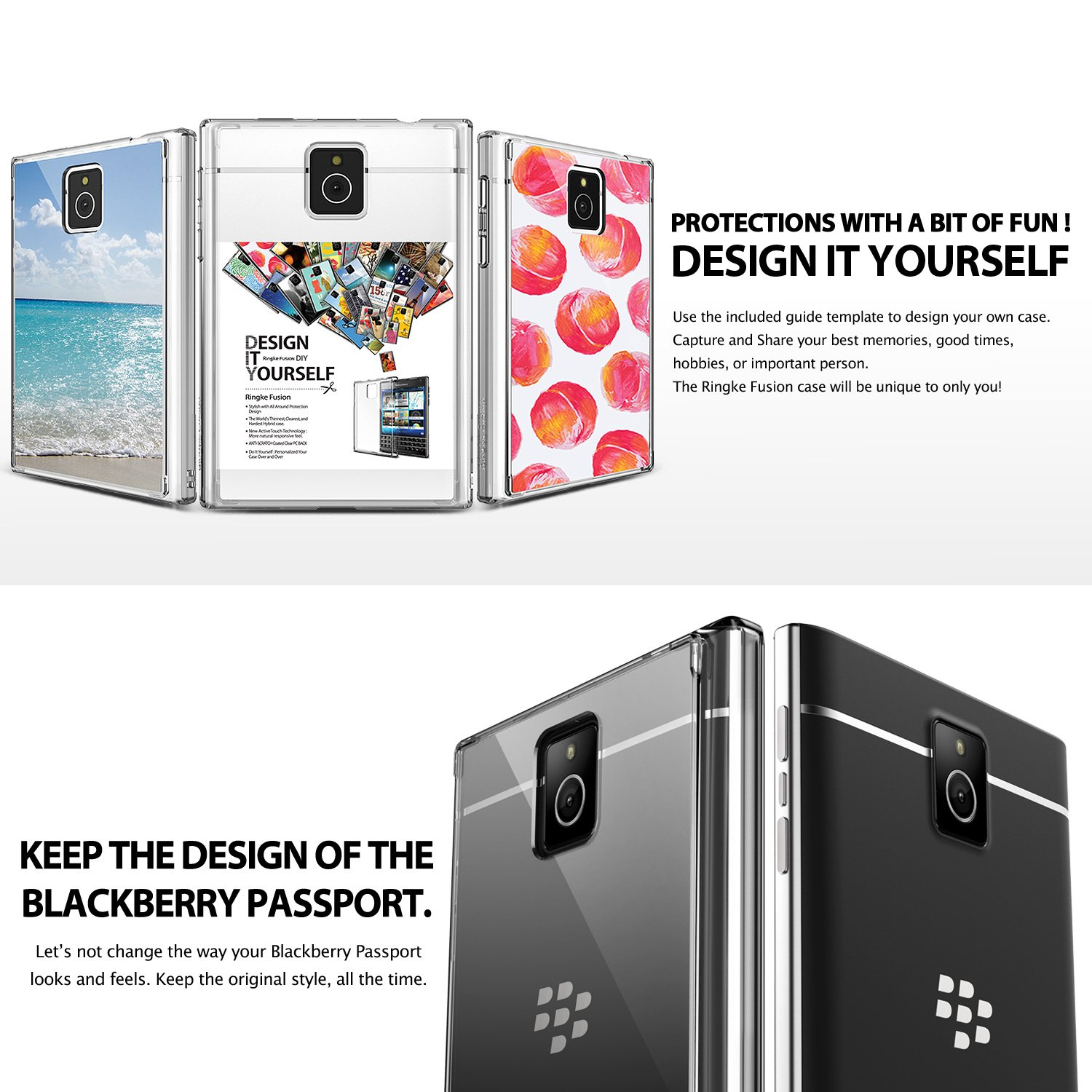 blackberry passport case ringke fusion passport case free screen rh amazon in BES 10 Trial BlackBerry Fusion Jello-Shots