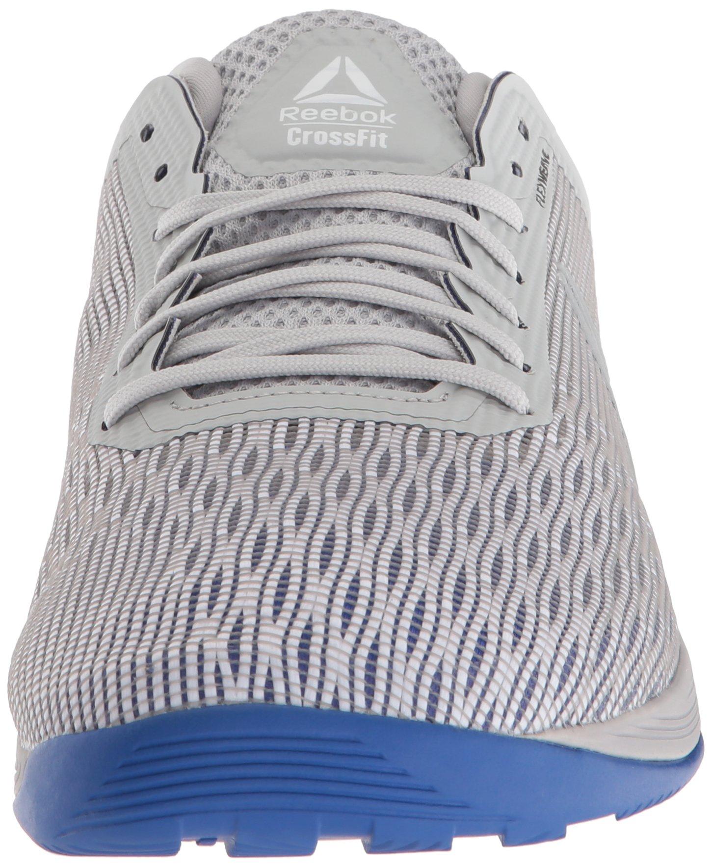 Reebok Men's CROSSFIT Nano 8.0 Sneaker, White/Stark Grey/Skull GR, 6.5 M US by Reebok (Image #4)