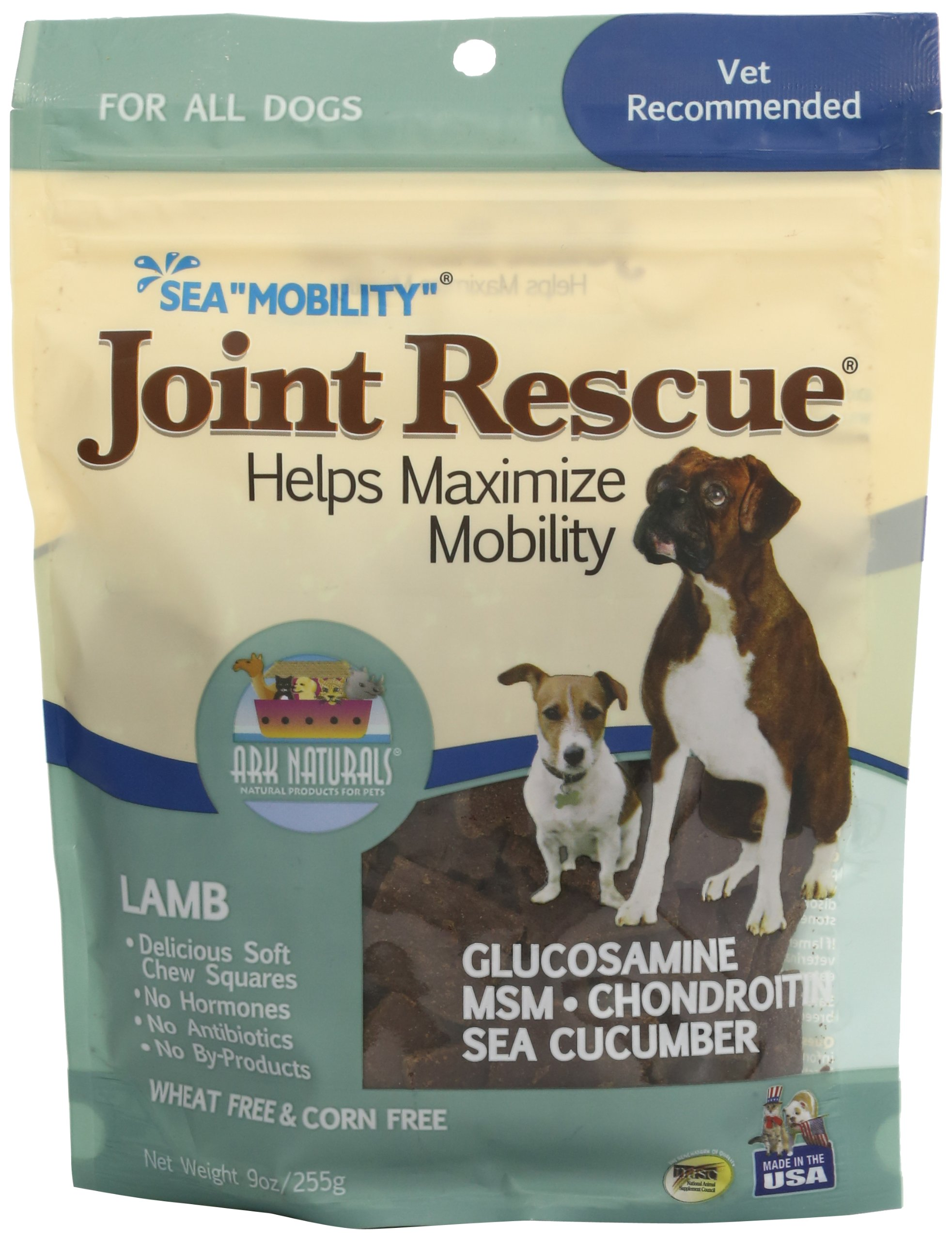 Ark Naturals Sea Mobility Lamb Jerky For Dogs, 9-Ounce Pouches (Pack Of 2) by ARK NATURALS