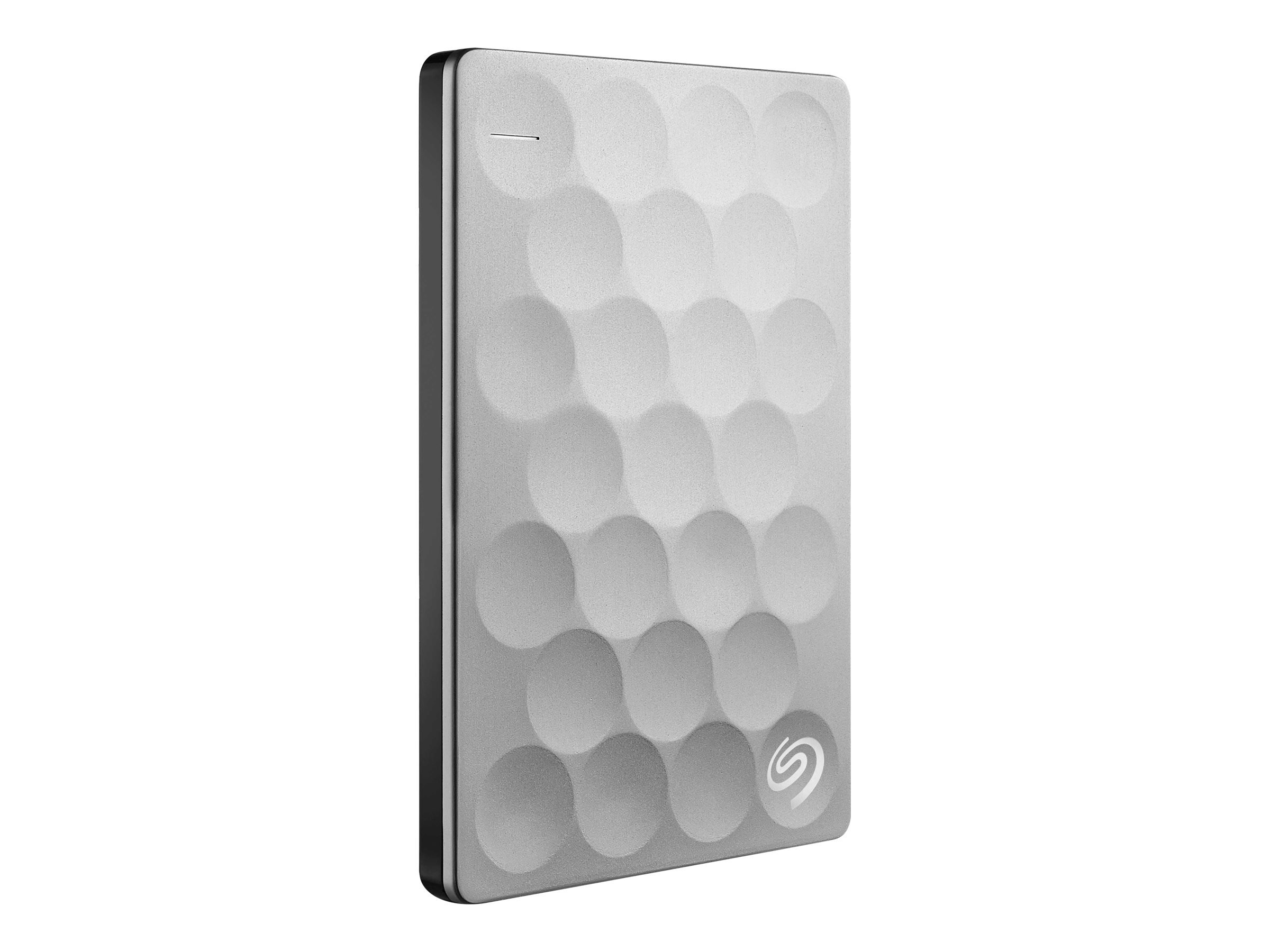 Seagate Backup Plus Ultra Slim 2TB Portable External Hard Drive, USB 3.0 Platinum + 2mo Adobe CC Photography