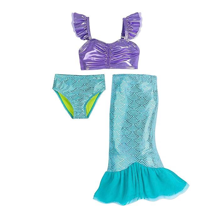Amazon.com: Disney I Am Ariel - Bañador para niña (3 piezas ...