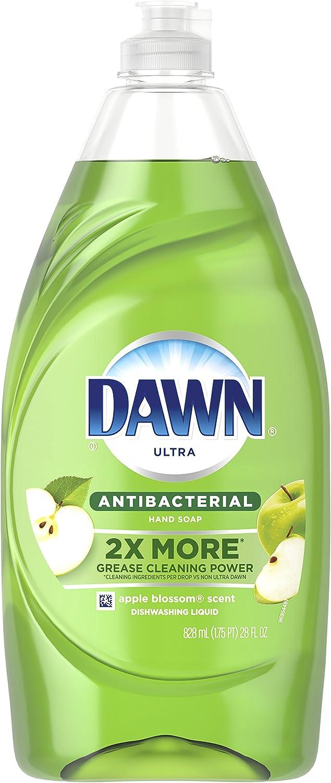 Dawn Ultra Antibacterial Hand Soap, Dishwashing Liquid Dish Soap, Apple Blossom Scent, 28 fl oz