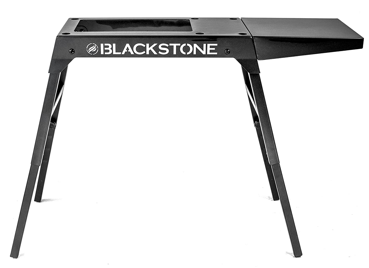 Blackstone Signature Griddle Accessories - Custom Designed for Blackstone 17 inch/22 inch Tabletop Grill - Portable Griddle Table, Legs and Shelf - Adjustable Legs - Camping Table - Black