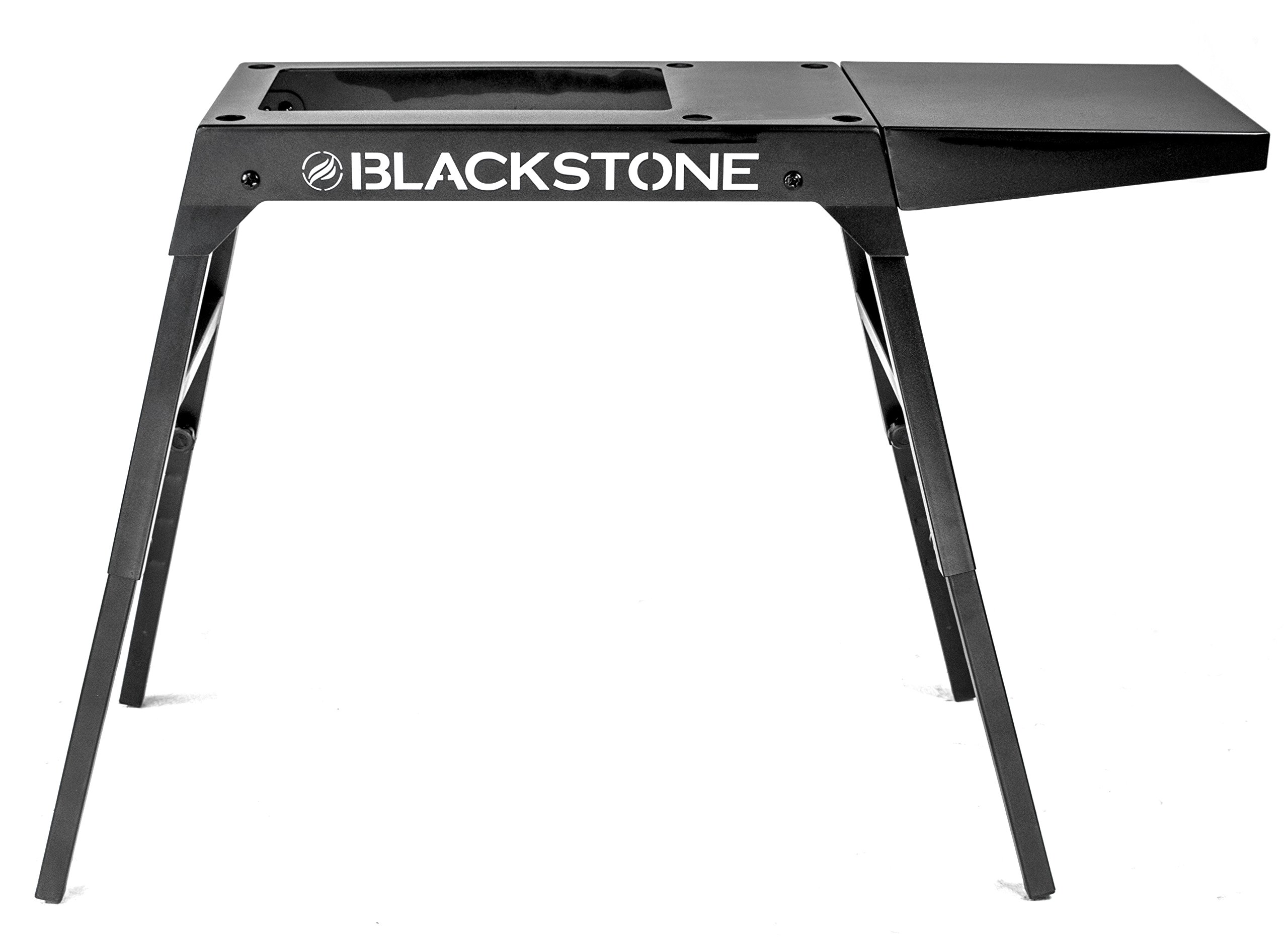 Blackstone Signature Griddle Accessories - Custom Designed for Blackstone 17 inch/22 inch Tabletop Grill - Portable Griddle Table, Legs and Shelf - Adjustable Legs - Camping Table - Black by Blackstone