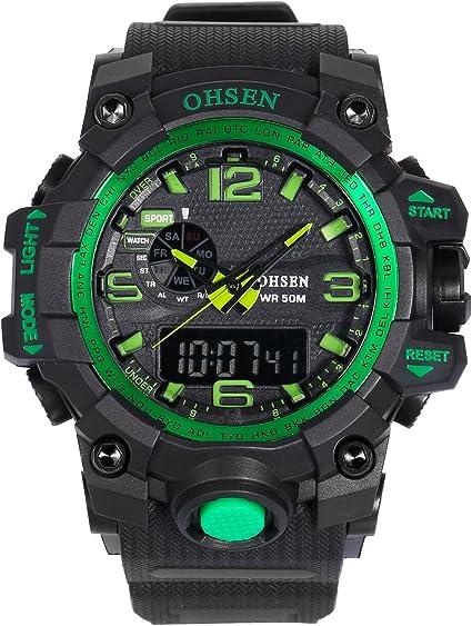 AMPM24 OHS239 Reloj Hombre Analógico Digital Alarma de Goma