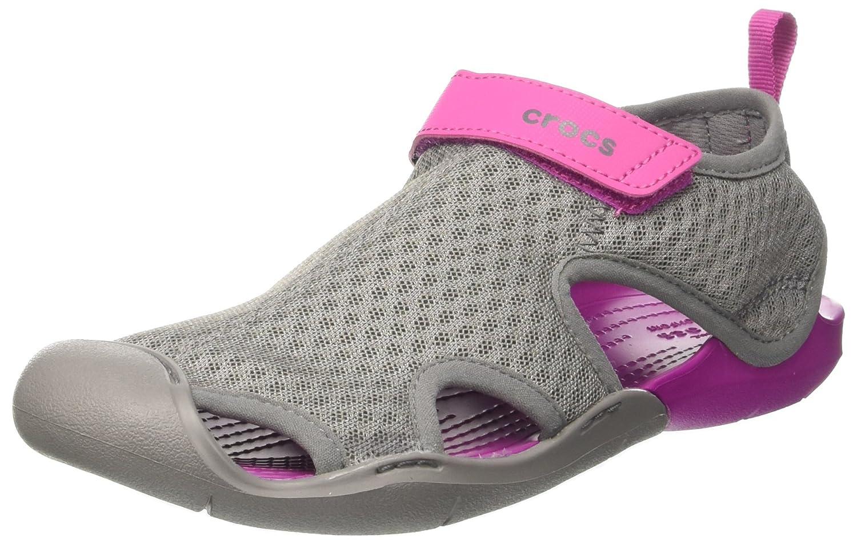 crocs Damen Swiftwater Mesh Sandals Women Geschlossene, Smoke  37/38 EU|Grau (Smoke)