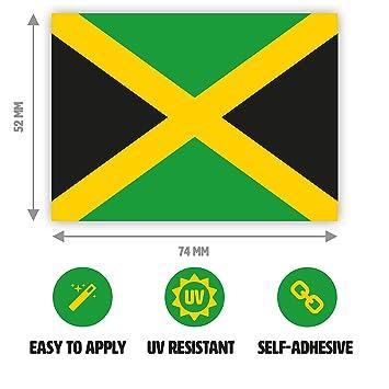 1 x jamaican flag sticker jamaica sticker for cars laptop windows