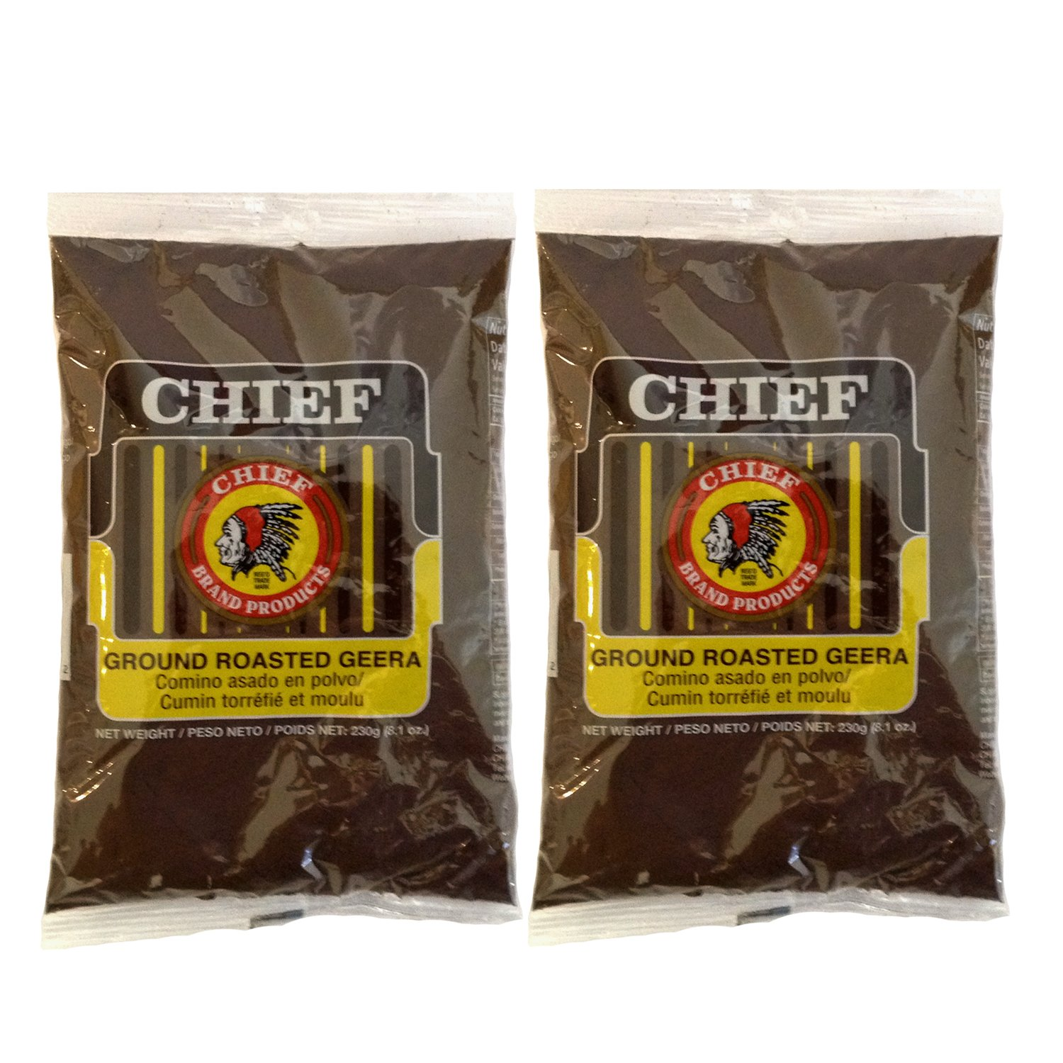 Chief Roasted Geera Ground Cumin Seeds 230g 8.1oz (Pack of 2)