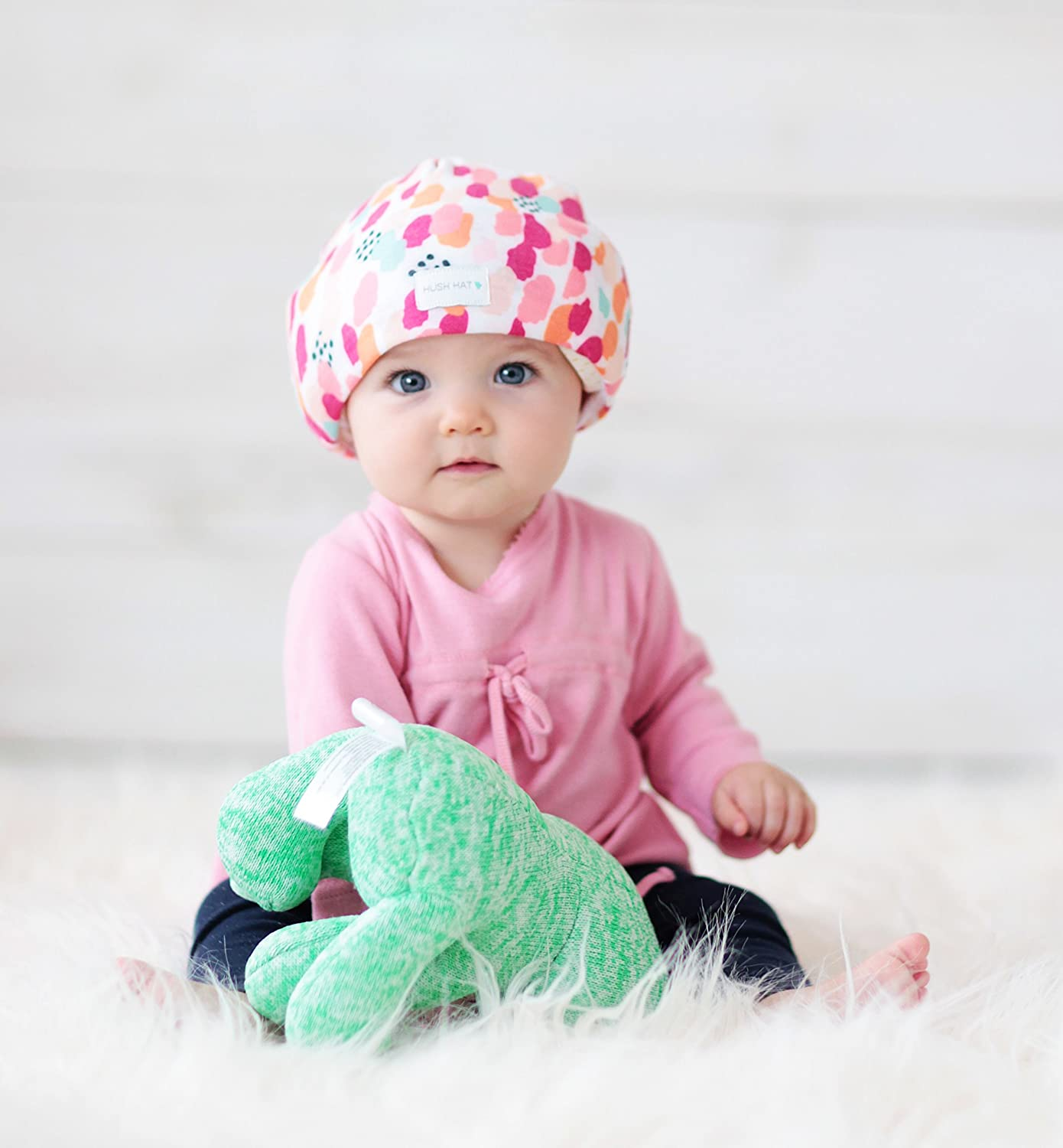 Hush Baby Hat with Softsound Technology and Medical Grade Sound Absorbing Foam Topaz Mint Green//Small