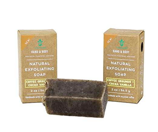 Urbanised handmade natural coffee exfoliating soap and skin care gift set