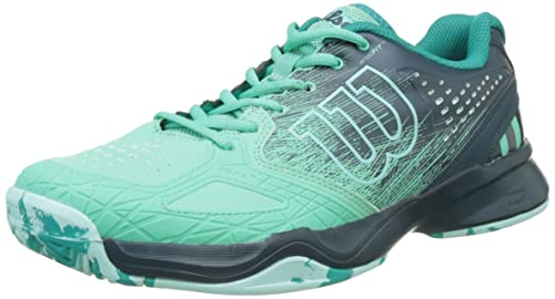 Wilson Kaos Comp W, Zapatillas de Tenis Mujer, Verde (Electric Green / Reflecting Pond / Arub), 41 EU