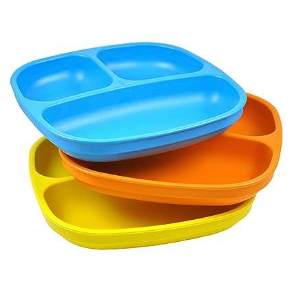 Re-Play Set de platos infantiles, 3 unidades, sin bisfenol A, sostenible