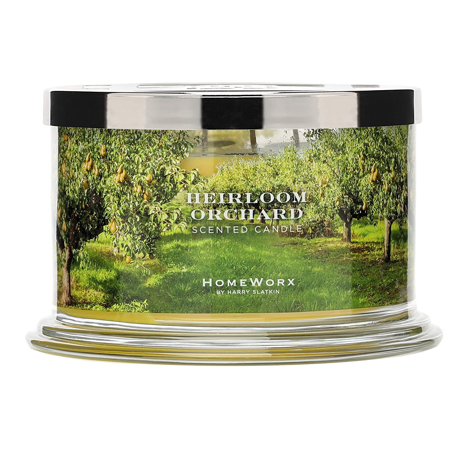 HomeWorx by Harry Slatkin 4 Wick Candle, 18 oz, Heirloom Orchard