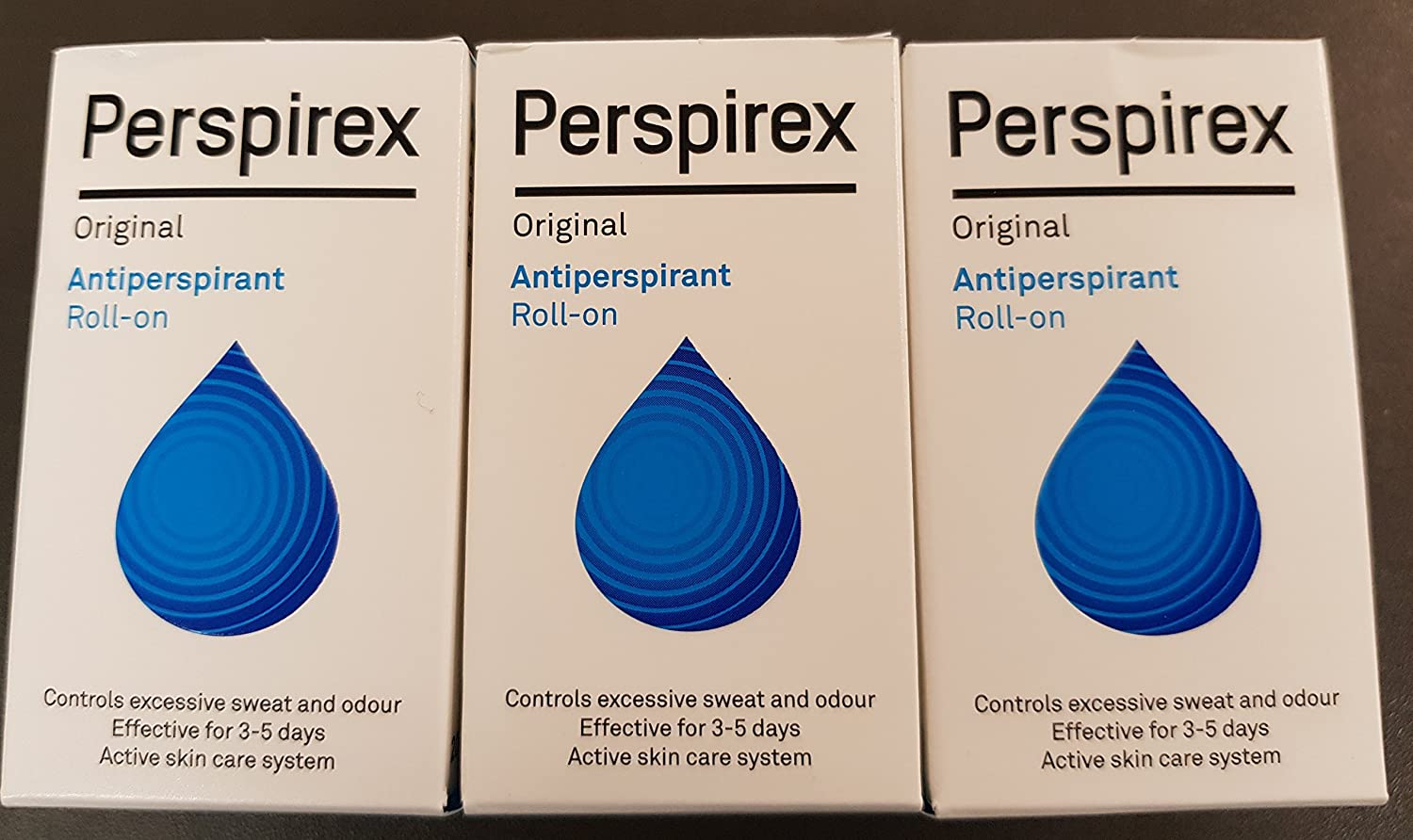 THREE PACKS of Perspirex Underarm Roll-On Antiperspirant BeautyCentre