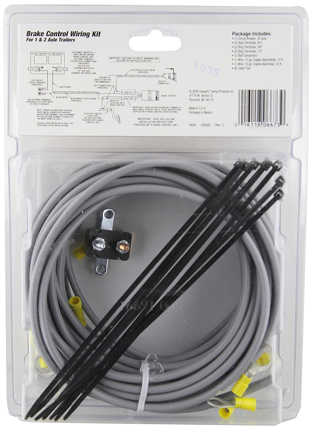 Tow Ready 20505 Wiring Kit for 2 To 4 Brake Control System 820505
